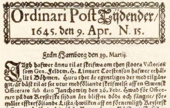 самая старая газета в Швеции