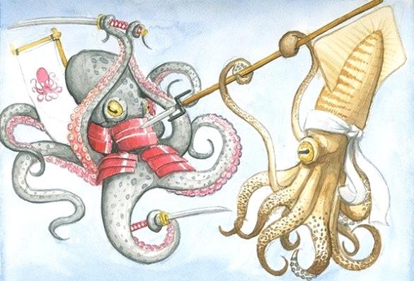 Чем кальмар отличается от осьминога?