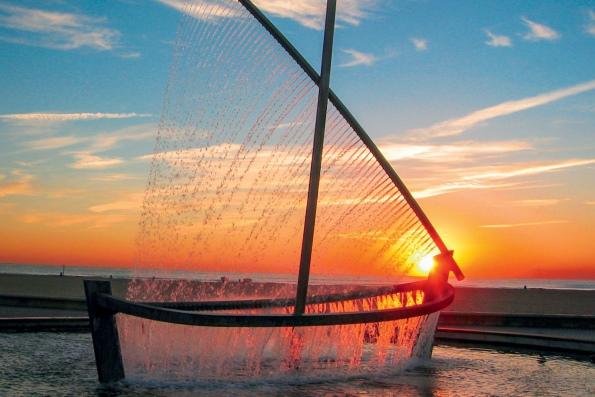 Фонтан лодка валенсия испания